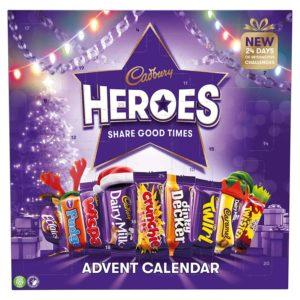 Cadbury Heroes Adventskalender für Weihnachten
