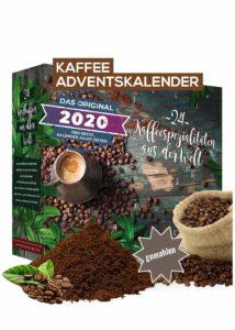 Kaffee Adventskalender mit 24 erlesenen Kaffee Sorten aus aller Welt