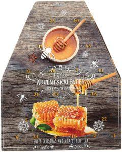 Honig-Adventskalender in tollen, außergewöhnlichen Design.