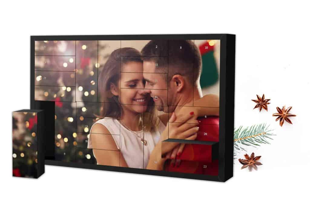 XL Schachtel-Adventskalender mit Foto