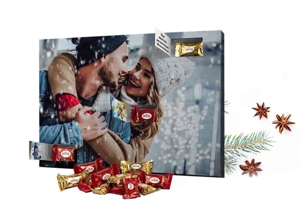 Adventskalender mit Foto bedruckt und Marzipan von Zentis gefüllt
