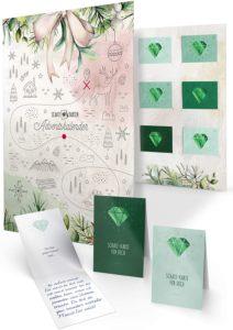 FRUITPRINTS - Schatz-Karten Adventskalender zum Ausfüllen für Erwachsene als Geschenk