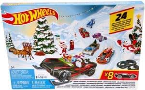 Hot Wheels FYN46 - Adventskalender 2019 mit 8 Autos und 16 Zubehörteilen