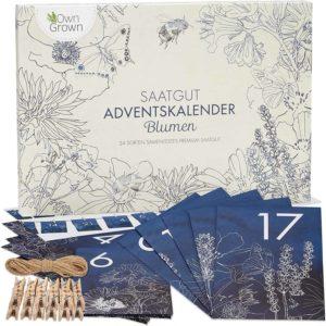 Nachhaltiger Garten Adventskalender mit Blumensamen