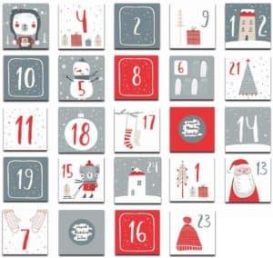 Rubbeladventskalender 24 Karten