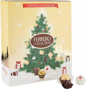 Ferrero Collection Adventskalender 2020 mit weißer, Milchschokolade und Bitterschokolade. Adventskalender