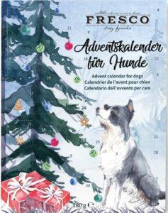 Fresco Adventskalender für Hunde 2020 (Weihnachtsbaum) - Enthält Hundeleckerli & Hundesnacks