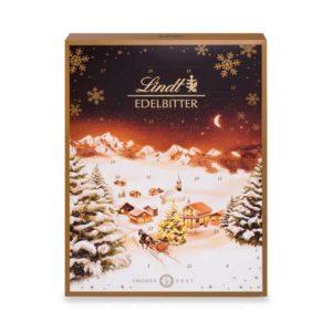 Lindt Edelbitter Adventskalender (24 verschiedene Überraschungen aus dunkler Schokolade)