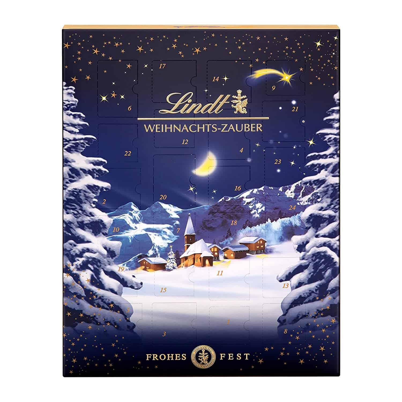 Lindt Weihnachts-Zauber Adventskalender (24 verschiedene Pralinés- und Milchschokoladen-Überraschungen)