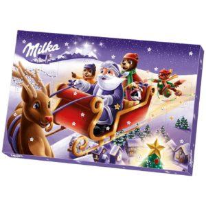 Milka Adventskalender mit Schokoladenfiguren mit Milchcrèmefüllung