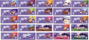 Milka Mix Pack von 25 Tafeln - Mischpaket - alle verschiedene Sorten
