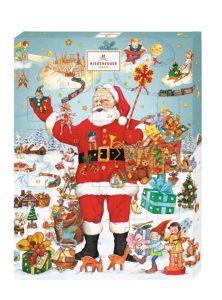 Marzipan-Adventskalender im retro Weihnachtsmann-Design von Niederegger