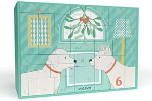 vetevo Adventskalender für Hunde | Enthält Pflege-, Nahrungsergänzungs-, Mundhygiene-Produkte und viele weitere Warenwert über 250€