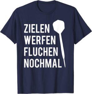 Darts T-Shirt für den Adventskalender - Zielen Werfen Fluchen Nochmal