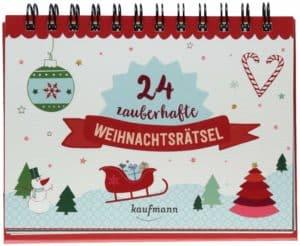 24 zauberhafte Weihnachtsrätsel (Adventskalender für Erwachsene: Aufstell-Buch mit Rätseln)