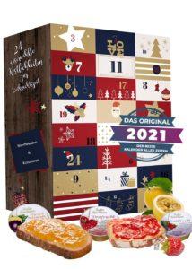 Adventskalender 2021 mit Konfitüren und Marmeladen