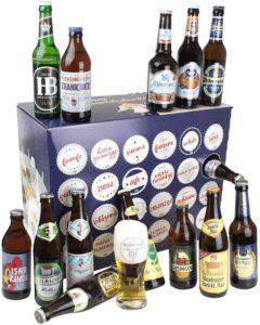 Bavariashop® Bayerischer Bier Adventskalender 2021 - Bier Kalender mit regionalen bayerischen Bieren von Traditionsbrauereien
