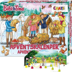 CRAZE Adventskalender BIBI & TINA Pferde Spielfiguren Set Pferdefiguren Spielset für Mädchen und Jungen