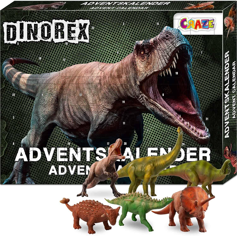 CRAZE Adventskalender DINOREX Dinosaurier Weihnachtskalender für Jungen Spielzeug