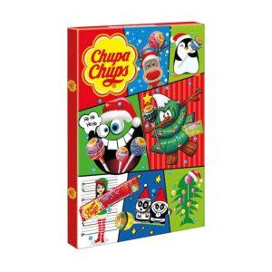 Chupa Chups Adventskalender Süßes Fest, 24 Lutscher- und Kaugummi-Überraschungen zu Weihnachten