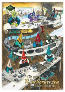 Crottendorfer Räucherkerzen - Adventskalender mit 24 Räucherkerzen
