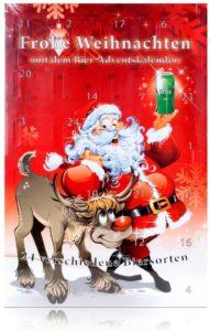 Huber`s Adventskalender Bier-Adventskalender Santa Bier mit 24 Bierdosen a 500ml
