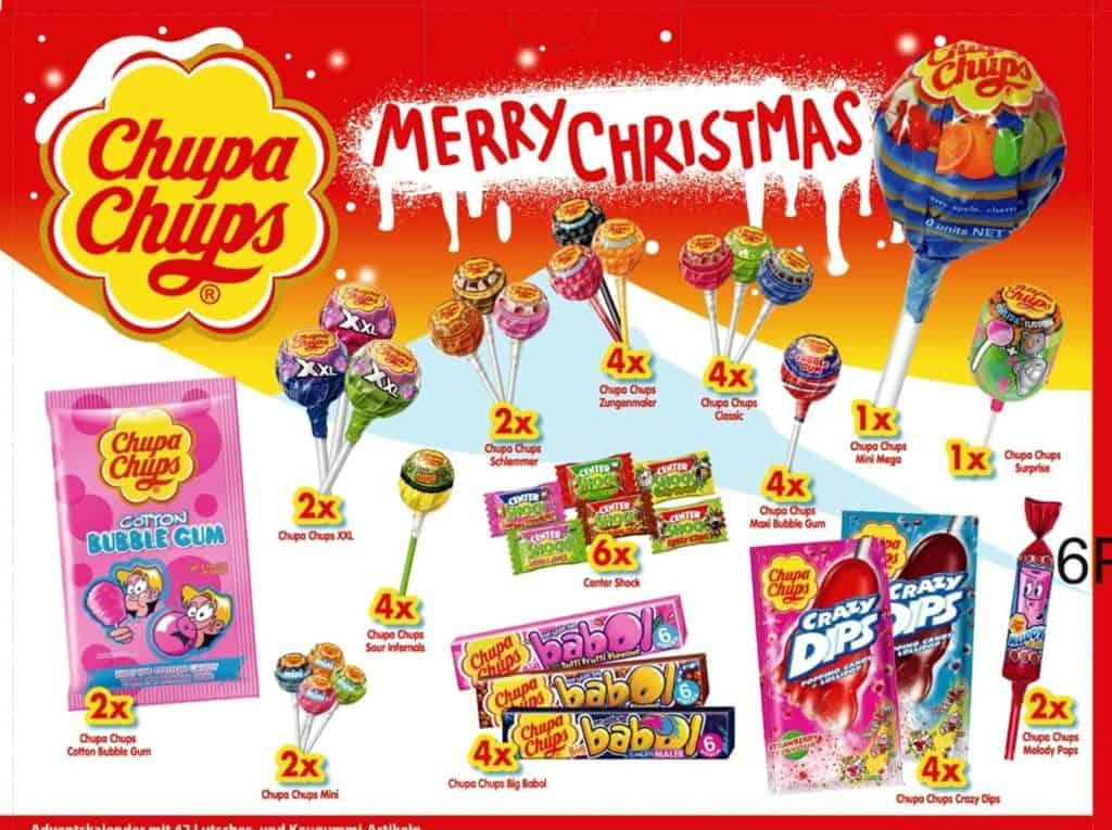 Inhalt Chupa Chups Adventskalender