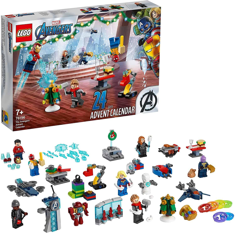 LEGO 76196 Marvel Avengers Adventskalender 2021 Spielzeugset aus Bausteinen mit Spider-Man und Iron Man für Kinder ab 7 Jahren Weihnachtsgeschenk