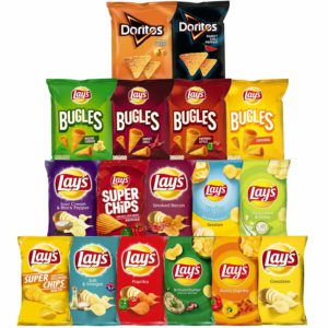 Lays Snacks Box – 11x Lay's Chips, 4x Lay's Bugles & 2x Doritos