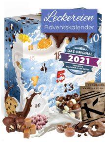 Leckereien Adventskalender 2021 besondere Geschenkidee mit vielen Knabberein