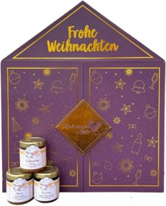 Marmeladen Adventskalender 2021 Marmeladenherz Weihnachtskalender mit 24 Marmeladen Hochwertige Marmeladen für Männer, Frauen und Familien Plastikfrei, vegan & nachhaltig Perfektes Geschenk