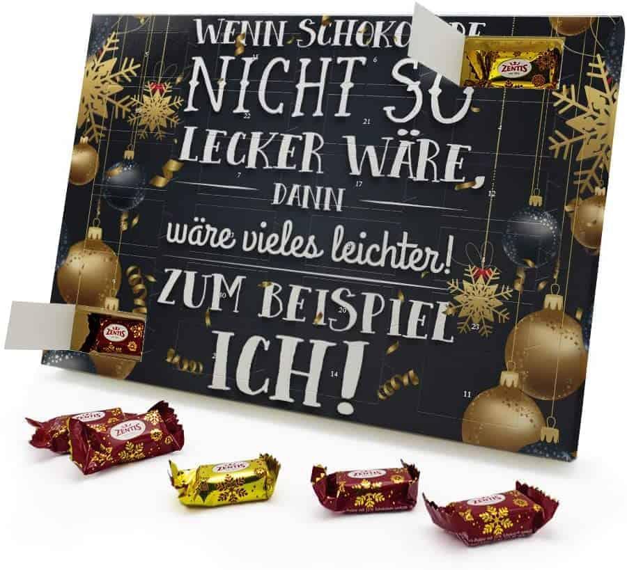 Marzipan Adventskalender Wenn Schokolade Nicht so lecker wäre, dann wäre vieles Leichter! Zum Beispiel ich!