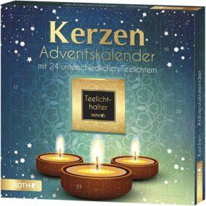 ROTH Kerzen-Adventskalender 2021 gefüllt mit Teelichtern und Duftkerzen