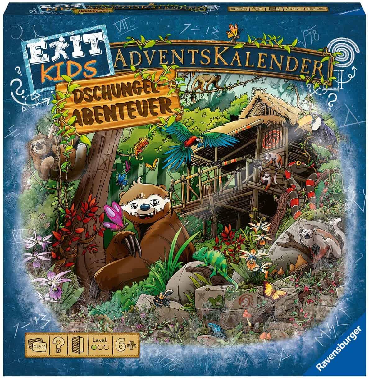 Ravensburger Exit Adventskalender Kids 2021 Dschungel-Abenteuer