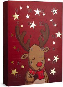 SIX Schmuck-Adventskalender 24 Überraschungen in Form schöner Schmuckstücke wie Ohrringe, Ketten und Armbänder, Kalender zum Aufhängen oder Hinstellen