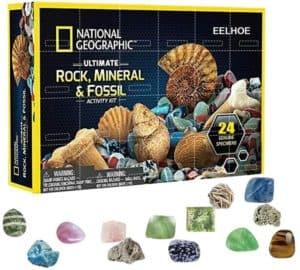 Fangteke Weihnachts Adventskalender Mega Fossil Dig Kit Weihnachten Adventskalender Mineral Geschenkbox Lustige Frühkindliche Erziehungs Spielzeug